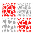 red and gray hearts seamless pattern se vector image vector image