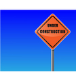 roadsign under construction sky background vector vector image vector image