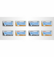 set montana auto license plate detailed object vector image vector image