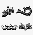 set ocean waves with differes shapes design vector image vector image