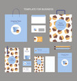 set of corporate vintage style confectionery vector image vector image