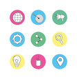 set technology icons to company information vector image vector image