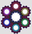 Six part circular infographic element design vector image vector image