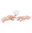 smoking hands with cigarette sketch icon vector image vector image