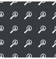 Straight black user details pattern vector image vector image