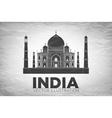 Taj Mahal an ancient Palace vector image vector image