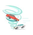 Tornado Twisted Car Ruined Everything vector image