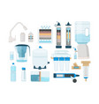 treatments water home systems for fresh liquid vector image vector image