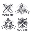 Vape shop and bar logos vector image vector image