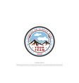 vintage retro mountain hill badge emblem vector image vector image