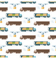 warehouse fast delivery item seamless pattern vector image vector image