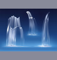 waterfall cascade water fall realistic streams vector image
