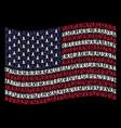 waving usa flag stylization of mourning ribbon vector image vector image