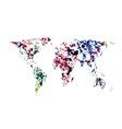 world map watercolor blots vector image