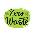 zero waste handwritten text vector image