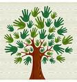 Eco friendly Tree hands vector image