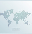 world map made with dots vector image