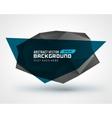 Abstract geometric 3d shape background vector image