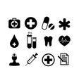 collection of medical icons vector image