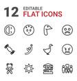 12 happy icons vector image vector image