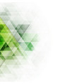 abstract green triangles geometric background vector image vector image
