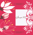 abstract red floral card vector image vector image