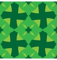 Abstract seamless pattern green color vector image