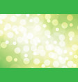abstract white bokeh on green yellow background ve vector image vector image