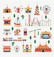 amusement park design elements vector image