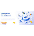 application development - banner layout template vector image vector image