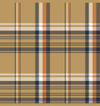 beige check plaid tartan pixel seamless pattern vector image vector image