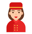 bellhop icon profession and job vector image vector image