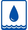 big water drop and wave vector image vector image
