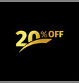 black banner discount purchase 20 percent sale vector image vector image