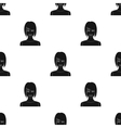 Blonde icon in black style isolated on white vector image vector image