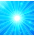 Blue shining light background vector image vector image