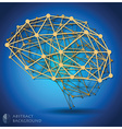 Brain Shape Abstract Geometric Background vector image vector image