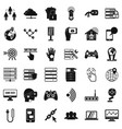 broadcasting company icons set simple style vector image vector image