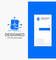 business logo for algorithm business foretelling vector image vector image