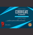 certificate of achievement retro template 2 vector image vector image