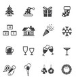 christmas and new year party icon set vector image vector image