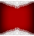 Christmas red background with snowflakes vector image