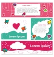 Cute Bird lovers on Valentine s Day vector image vector image