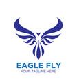 eagle fly logo designs business phoenix vector image