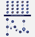 Editable business diagram template with icons vector image vector image