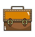 elegant briefcase to save important document vector image vector image