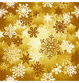 Gold Christmas snowflakes pattern vector image vector image