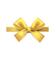 golden bow gold gift decoration element vector image vector image
