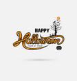 halloween banner calligraphyhalloween trick or vector image vector image