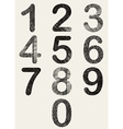 Hand drawn and sketched numbers set vector image